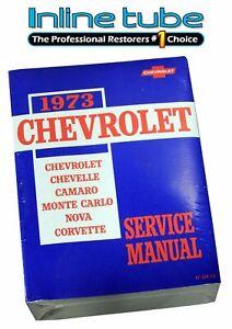 1973 Chevrolet Chevy Service & Overhaul Shop Manual Supplement Chevelle Camaro