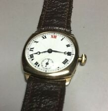 Antique Swiss Made Solid 9ct Gold Watch 10j Working Hinged Watch