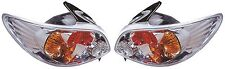 Peugeot 206 3/5Dr 98-6/03 Back Rear Tail Lights Lexus Chrome Type2 Pair