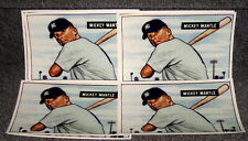 1951 BOWMAN MICKEY MANTLE ROOKIE CARD 7 X 10 COLOR PHOTO LOT OF 12 MINT
