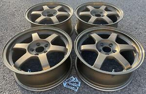 """16"""" Volk TE37 alloy wheels in bronze Subaru Impreza Toyota Celica Prius 5x100 VW"""
