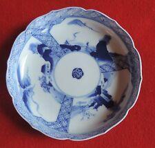 Antique Japanese Porcelain Bowl Blue and White Landscape 19th c. Chinese Taste