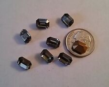 6 Swarovski Octagon Rhinestones 8x6mm Black Diamond Jewelry Repair