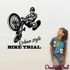 Wall Decal BMX Rider Sticker Bike Trial Bicycle X Games Cycle Jump Teen M1641