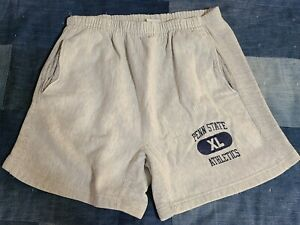 Vtg 90s Penn State Heather Rayon Champion Reverse Weave gym college shorts 30 M