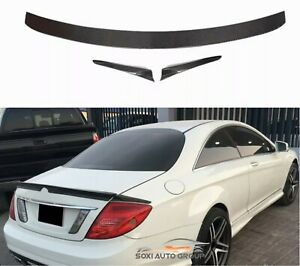 Carbon Fiber Trunk Spoiler Wing B Style For 07-14 Mercedes Benz W216 CL63 CL65