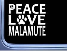 "Malamute Peace Love L596 Dog Alaskan Sticker 6"" decal"