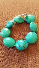 Turquoise Sterling Silver Bracelet 227.70ct