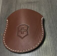 Brand New Swiss Army Brown Leather White Stitching Pocket Knife Holder