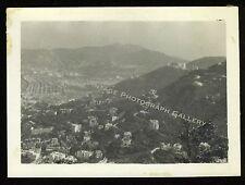 Vintage Snapshot Photo Hong Kong Asia Mountains Early 1950's