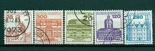 Allemagne -Germany 1982 - Michel n. 1139/43 - Timbres-poste ordinaires