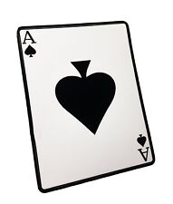 The White Ace of Spades Death Dealer Poker Card, Decal / Sticker