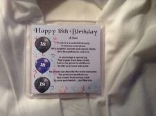 Personalised Coaster - Son  Poem - 18th Birthday  +  FREE GIFT BOX