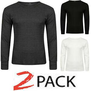 2 Pack Thermal Top for Men Long Sleeve Underwear Base Layer Inner Winter Vest