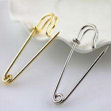 Long 50 MM Kilt Pin Large Safety Pin Metal Brooch Pin Silver Color / Gold Color