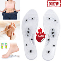 2 Massage Akupressur Orthopädische Magnetische Einlegesohlen Abnehmen Fußmassage