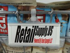 """Plastic Molded Slide-In Label Holder Tag 3"""" x 1.25"""" Wrap Lock Snap Clasp"""