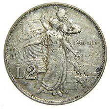 [NC] VITTORIO EMANUELE III - SAVOIA - 2 LIRE CINQUANTENARIO 1911 (nc3592)