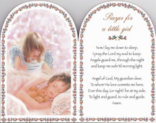 PRAYER FOR A LITTLE GIRL WOODEN BEDROOM PLAQUE CANDLES STATUES PICTURES LISTED