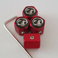 VAUXHALL Matte Red Locking Anti Theft Wheel Valve Dust caps all models color