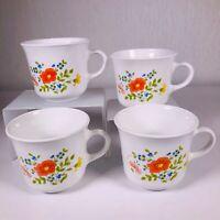 SET of 4 - Vintage CORELLE BY CORNING Wildflower Ceramic Tea/Coffee Cups