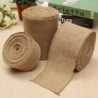 10M Natural Burlap Jute Hessian Ribbon Garland Wedding Runner Decor