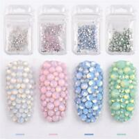 Decoration Opal Nail Rhinestones Flat Bottom Glass Gems Nail Art Crystal