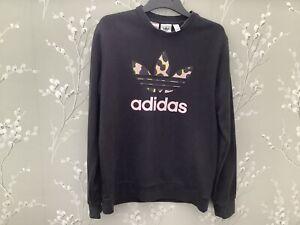 Adidas, Girls Black Sweatshirt, Age 13-14 Years