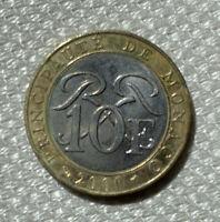 10 Francs MONACO 2000 Fürstentum Principaute Deo Jovante Münze Coin selten rare