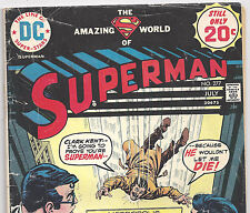DC SUPERMAN #277 Mark Jewelers Edition from July 1974 in Fair con. Loose Cover
