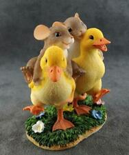 Charming Tails Mouse Duck Figurine Waddle We Do Without Friends Free Ship