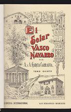 ARALDICA - EL SOLAR VASCO NAVARRO - 3° EDIZIONE NUMERATA 6 VOLUMI 1966/67 [NIW]