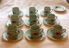 9 Simpsons Potters Cobridge England Demitasse Cups and Saucers 2 Extra Saucers
