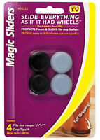 Magic Sliders  Plastic  Floor Slide  Gray  Round  7/8 in. W 4 pk Self Adhesive