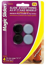 Magic Sliders  Plastic  Floor Slide  Gray  Round  7/8 in. W 4 pk Self Adhesive
