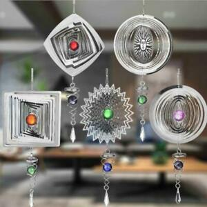 Silent Stereo Rotating Wind Chime Spinner Motor Hanging Ornament Decor Mirror