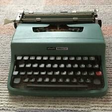 Vintage Olivetti Lettera 32 Portable Typewriter with Case, Manual, Paper
