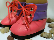 """**SALE** HOT PINK & PURPLE Tall Hiking BOOTS SHOES fits 18"""" AMERICAN GIRL DOLL"""