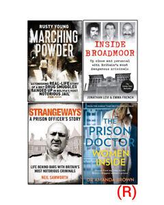 Marching Powder,Inside Broadmoor,Strangeways,Prison Doctor 4Books Collection Set