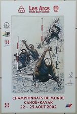 Les Arcs Bourg St Maurice, Canoé kayak 2002 - Affiche originale/poster Alain Bar
