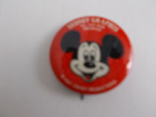 "+/ MICKEY MOUSE-WDP- pin back button-SYDNEY GRAPHICS -1.5""DIAMETER"