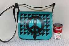 Hand Tooled & Hand Painted Leather Purse, Quilt Pattern, Beautiful Detail OOAK