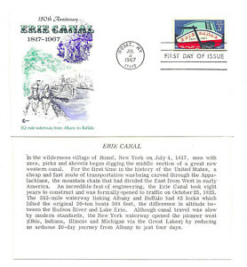 1325 Erie Canal Cover Craft Cachets, CCC,  FDC