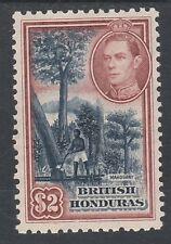 BRITISH HONDURAS 1938 KGVI TREES $2