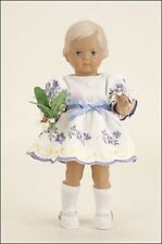 25cm Schildkrot authentic replica german doll Christel with forget-me-nots