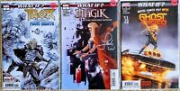🔥Marvel Comics What If ? Ghost Rider #1 & Thor #1 & Magik #1 all signed w/ COAs