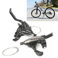 2pcs Bicycle ST-EF65-8 MTB Brake Levers & Shifter Levers Set 3 x 8 Speed