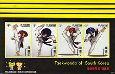 St Vincent & The Grenadines 2014 MNH Taekwondo South Korea 4v M/S I Philakorea