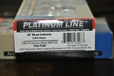 Walthers HO- New_C&O Wood Caboose Progress(Red) 932-7528