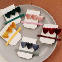 Charm Women Love Heart Hair Clip Barrette Stick Bobby Hairpin Hair Decor 2Pcs